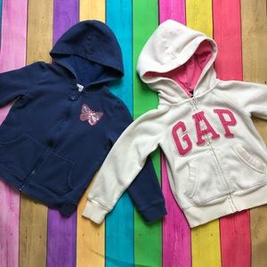 Girls 4-5 Zip up Sweatshirt Hoodie bundle lot of 2